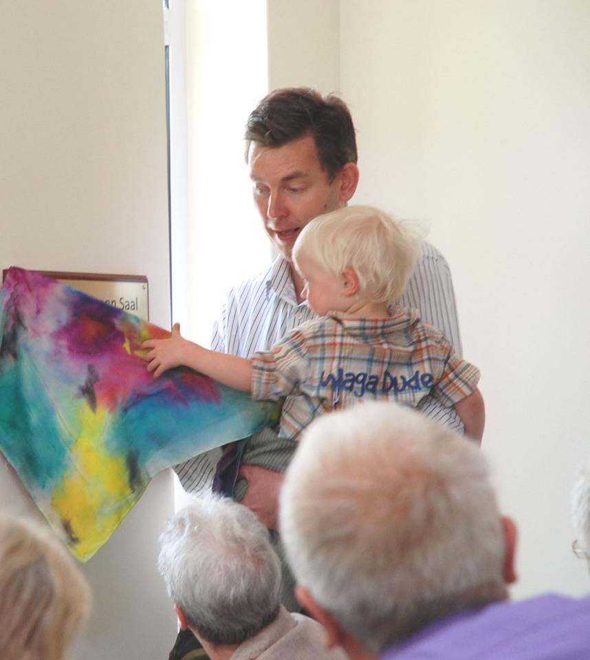 Martin Rohwer als jüngster enthüllt die Dr Tormann Plakette