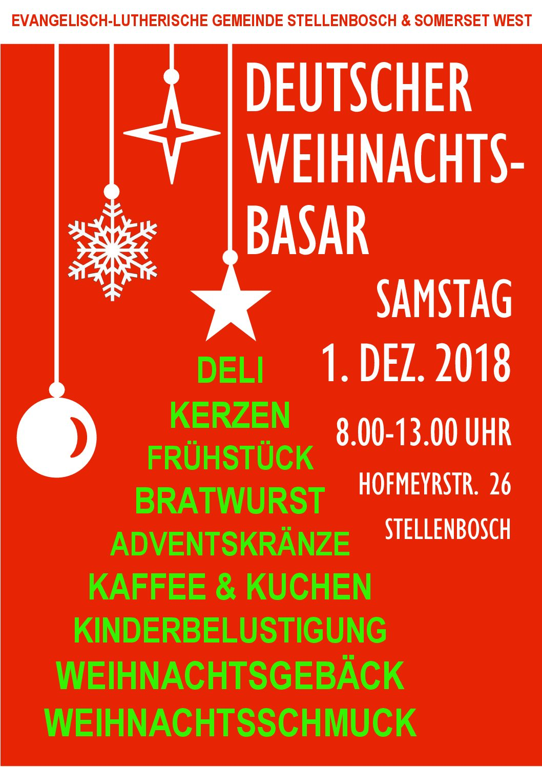 Adventsbasar 1. Dez 2018